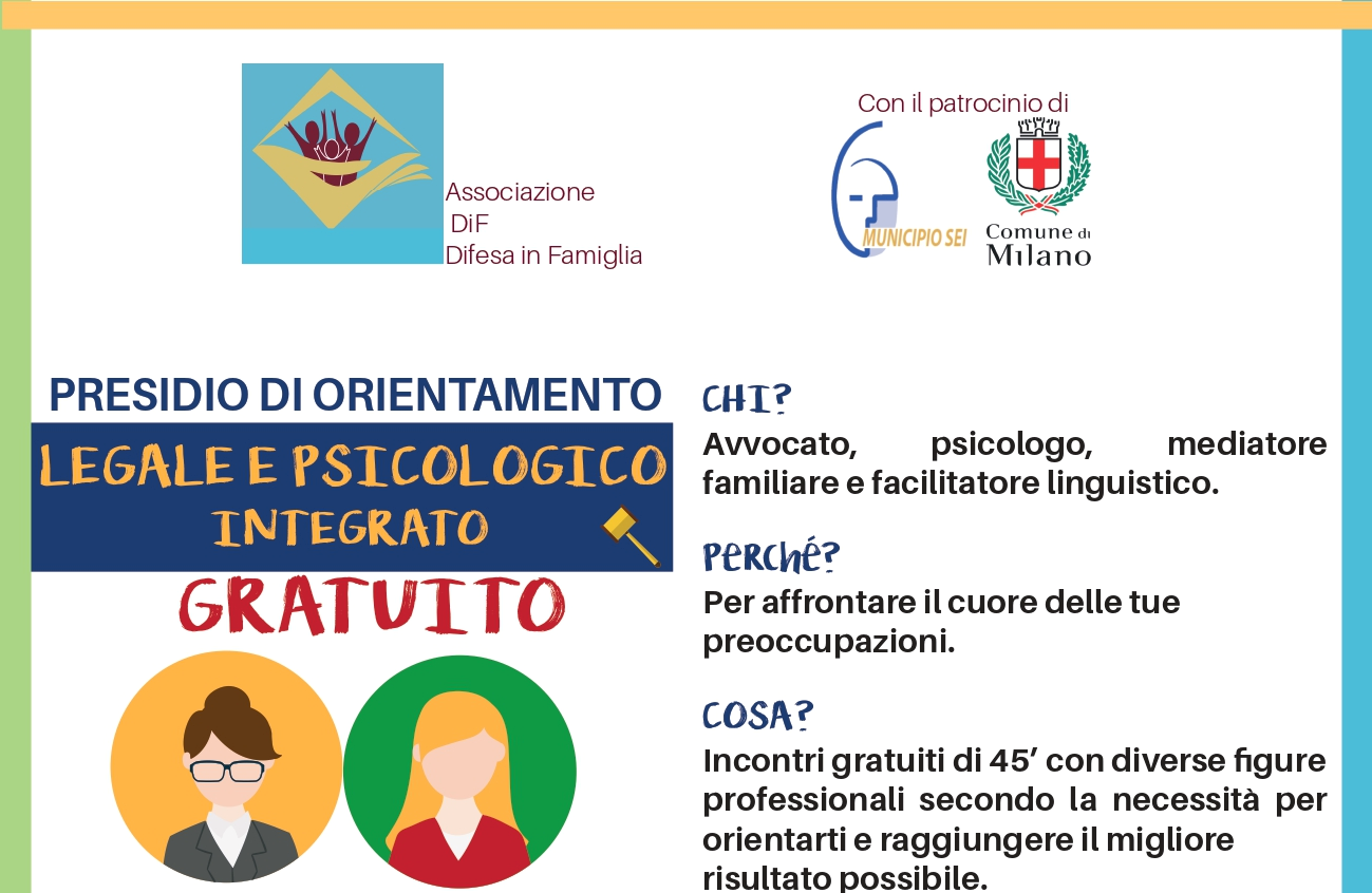 CASA 7: SERVIZIO DI ORIENTAMENTO PSICOLOGICO GRATUITO